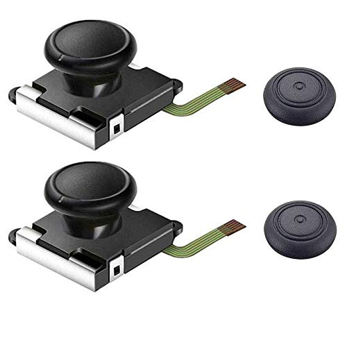 Thlevel 2 PCS Analoger Thumbstick Joystick für Nintendo Switch Joy-Con, 3D Ersatz Links und Rechts Controller Analoger Rocker Stange Stick mit Kappe