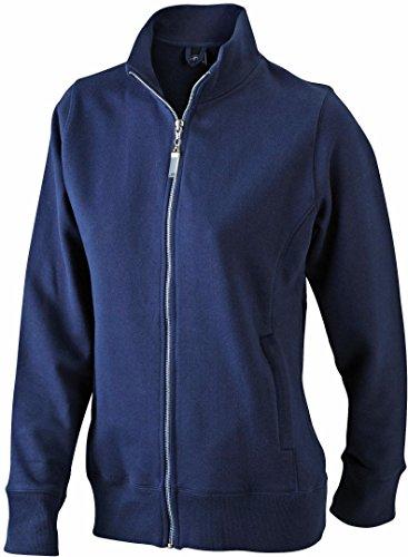 JAMES & NICHOLSON Kapuzen-Jacke aus formbeständiger Sweat-Qualität (M, navy)