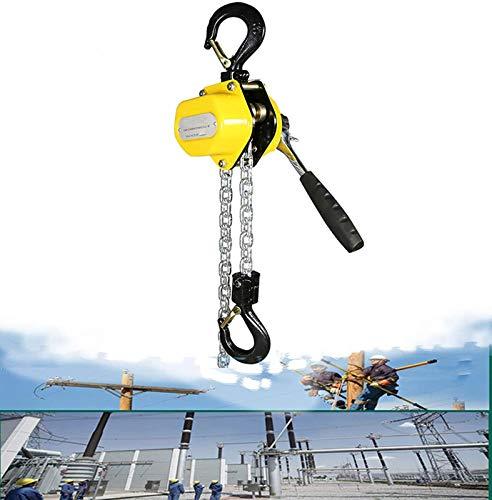 ZXLRH Polipasto de cadena manual 0.25/0.5/0.75 toneladas, polipasto de palanca de...