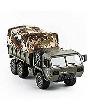 Absir Camión RC, camión con Ruedas a Escala Completa 1:16, Modelo de vehículo de Control Remoto, tracción en Las Seis Ruedas, simulación de Campo traviesa, Tarjeta Militar, Coche RC
