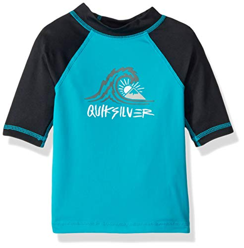 Quiksilver Boys\' Little Bubble Dream Short Sleeve SURF TEE Rashguard, Typhoon, 3