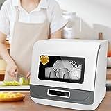 Lavavajillas Portátil Vogvigo 5 Programas de Lavado Lavavajillas de Sobremesa Pequeño Doméstico de Sobremesa de Gran Capacidad Totalmente Automático 70 ° C Lavado y Secado de Frutas y Verduras