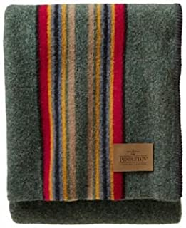 Costco Pendleton Blankets Yakima Camp Wool Throw Blanket, Green Heather Mix, One Size