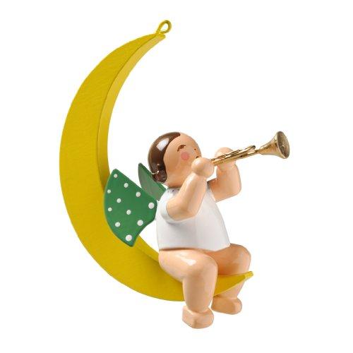 Wendt & Kühn Christbaumengel mit Trompete im Mond Größe 8-8