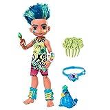 Cave Club Muñeco Slate, muñeca prehistórica con mascota y accesorios (Mattel GNL87)