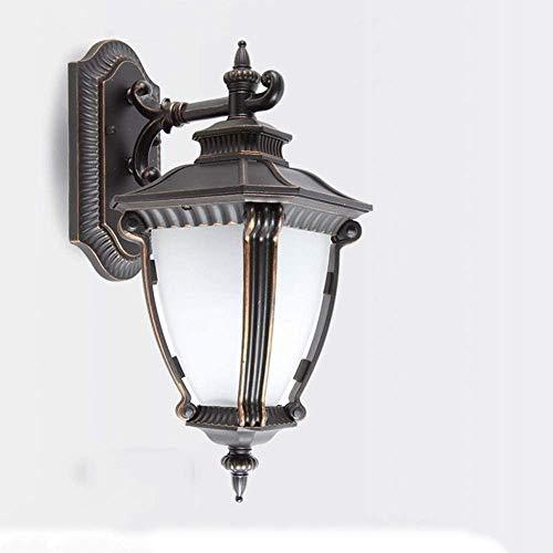 AXWT Pared lámpara de Impermeable Exterior lámpara de Pared Alta luz E27 Vidrio Estilo Europeo lámpara de jardín para Exteriores lámpara de balcón lámpara de Pared Entrada de Garaje Puerta,Down