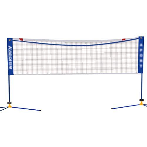 Qazxsw Badminton Net Rack Mobile Portable Badminton Net Ball Rack Simple Net Folding Net Post Best Gift,Blue,Net Width=510cm