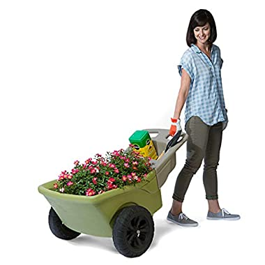Simplay3 Easy Haul Plastic Two-Wheel Wheelbarrow