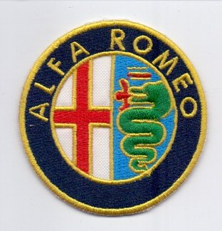 IRON ON PaTCH BRODÉ-ALFA ROMEO