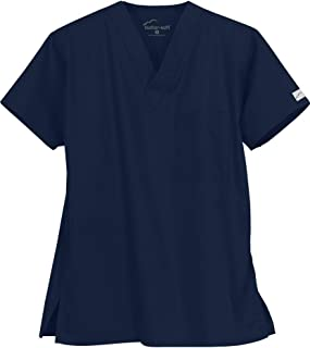 Butter-Soft Unisex Scrub Top by Uniform Advantage (Navy, Small)