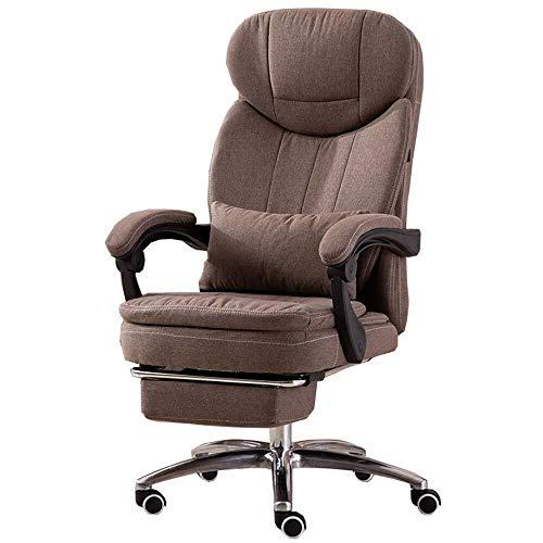 XKKD stoel Recline extra gevoerde bureaustoel met hoge rug grote stoel en kantelfunctie kan liggen plat met verlengde beensteun en ligstoel lager gewicht 150kg