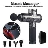 Modaka Thérapie électronique Pistolets de massage corporel à 3 rangées Pistolets de massage à DEL sans brosse Muscles du corps pour soulager la douleur (C)
