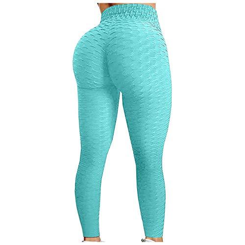 KAKIO Sexy Leggings für Damen, hohe Taille, Yogahose, Workout, Bauchkontrolle, Sportstrumpfhose, Straight Jeans (gerades Bein), Groß