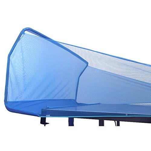 XJJUN Ping Pong Ball Collector, Práctica para Un Jugador, Tablero De Retorno De Ping-Pong Portátil, Se Adapta A La Mayoría De Las Mesas De Ping-Pong Reglamentarias para Ayudar (Color : Blue)