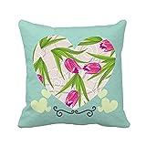 カーネーションの花の花の植物の葉 ラブクッションクッションお昼寝枕ギフト