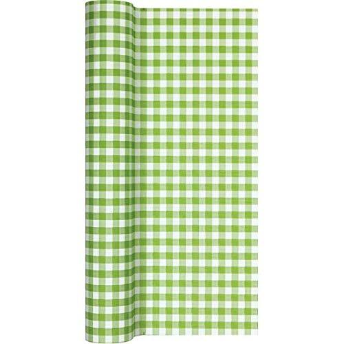 Home Fashion tafelloper Tl Karo groen 490X40 cm, meerkleurig, één maat