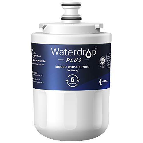 Waterdrop UKF7003 Refrigerator Water Filter, Replacement for Maytag UKF7003, UKF7002AXX, Whirlpool EDR7D1, UKF7003AXX, UKF7002, 7003AXXP, UKF7001AXX, UKF6001AXX, UKF5001, NSF 401&53 Certified