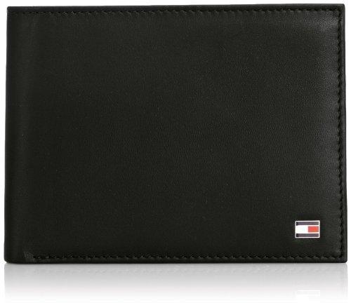 Tommy Hilfiger Herren ETON CC COIN POCKET Geldbörsen, Schwarz (BLACK 990), 14x10x2 cm