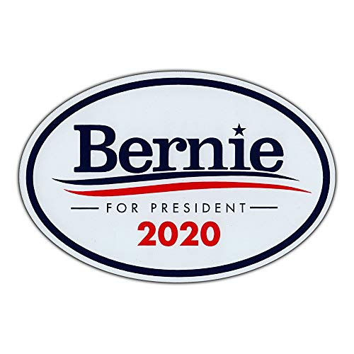 "Oval Magnet - Bernie Sanders For President 2020 - Magnetic Bumper Sticker - 6"" x 4"