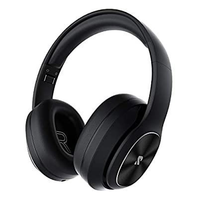 Rydohi Wireless Headphones Over Ear, [100 Hrs Playtime] Bluetooth Headphones, Foldable Hi-Fi Stereo Bass, Soft Memory Earmuffs, Built-in HD Mic, Wired Mode for TV/PC/Phone (Black) from Rydohi