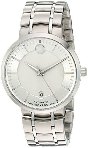 Movado heren datum klassiek automatisch horloge met roestvrij stalen armband 606915