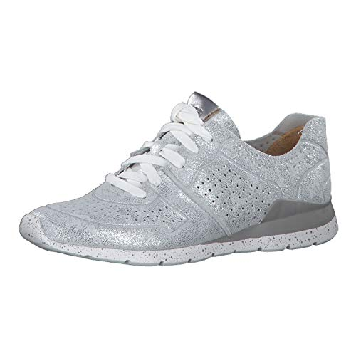 UGG Damen 1019058 Slvr Tye Stardust Sneaker, Silber (ALMOND), 42 EU
