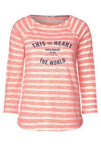 Cecil Damen 314702 T-Shirt, neon orange, Large