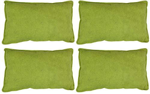 Filz-Kult Sitzkissen für Bierzeltgarnitur, 4 Stück, grün-meliert, Bierbank-Auflage, Filz-Kissen, Bank-Polster, Garten