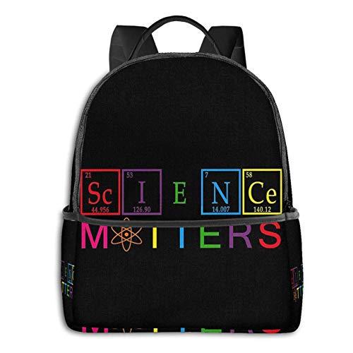 AOOEDM Backpack Rainbow Science Matters Mochila para Adolescentes y niños Mochila Escolar con iluminación Bolsa Deportiva Multiusos Bolsa de Hombro a Granel para Deportes Gimnasio Yoga