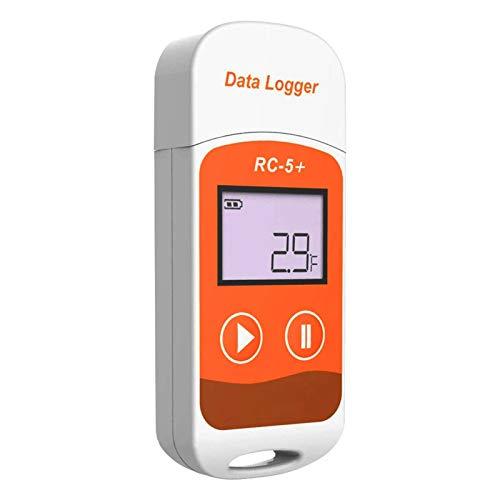 Therm La Mode Registrador de datos de temperatura USB Grabadora de medición de la vacuna 35.6-46.4 F Genere datos PDF RC-5+ fácil de usar