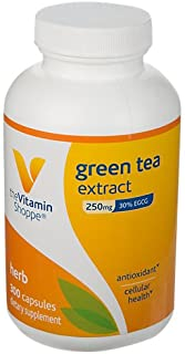 The Vitamin Shoppe Green Tea Extract 250MG (30 EGCG), Antioxidant Supplement That Supports Cellular Cardiovascular Health ...