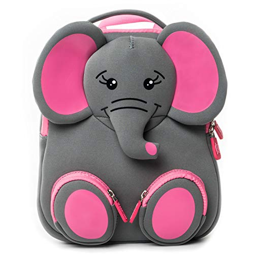 YYZZ Mochila de Dibujos Animados, Mochila Escolar de Elefante 3D para niños Mochila Impermeable para niños de jardín de Infantes Mochila de Dibujos Animados para niñas y niños Mochila con