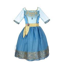 Disney Princess Merida Bling Ball Kids Costume from Amazon Prime