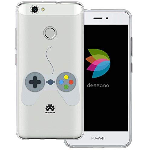 dessana Spielkonsole transparente Schutzhülle Handy Case Cover Tasche für Huawei Nova Controller mit Kabel