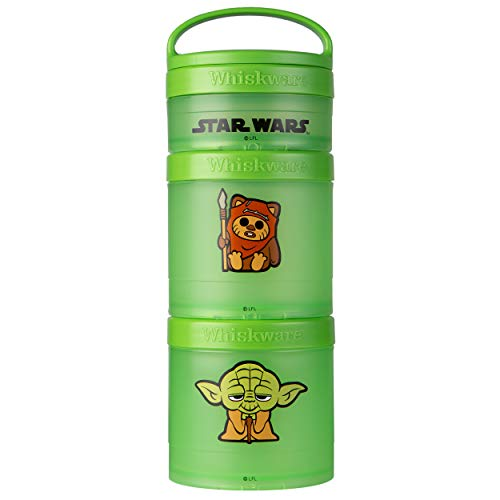 Whiskware Pacote de lanches empilháveis Star Wars, 2 1/3 xícaras, Ewok e Yoda