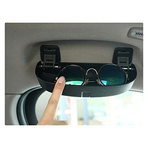 RUIYA Sonnenbrillenhalter Brillenetui Auto Innenraum Auto Brillenhalter für BMW X1 (schwarz)