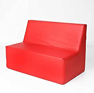 Foamnasium Straight Back Sofa, Red