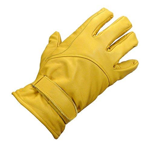 Westernwear-Shop Western-Lederhandschuh Winter Natur Reitsport Handschuhe Reithandschuhe Cowboy Handschuhe Lederhandschuhe für Westernreiten Beige (2XL)