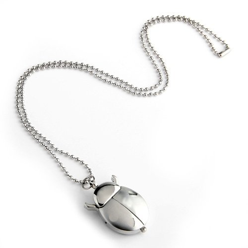 Gleader Reloj Colgante Collar Metal de Forma Marquita con Cadena