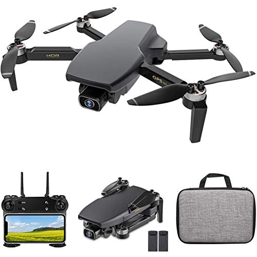 KLJJQAQ GPS Drone with Camera, 5G WiFi FPV Drone with 4K HD Camera for Adults, Brushless Motor RC Qudcopter with Optical Flow Positioning, Follow Me, Auto Return Home,2 Batteries