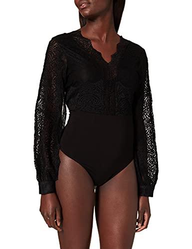 Morgan Body en Dentelle TZANA Camiseta, Noir, TS para Mujer