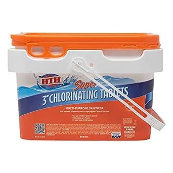 HTH 42042 Super 3  Tablets Swimming Pool Chlorine 5 lbs