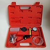 SHUGJAN Probador de mano de vacío Bomba de vacío de la herramienta del kit del coche de vacío Prueba de presión de la herramienta y sangrador del freno del coche automático probador set con la caja Ac