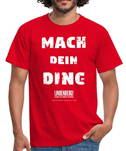 Lindenberg! Mach Dein Ding! Spruch Männer T-Shirt, 4XL, Rot