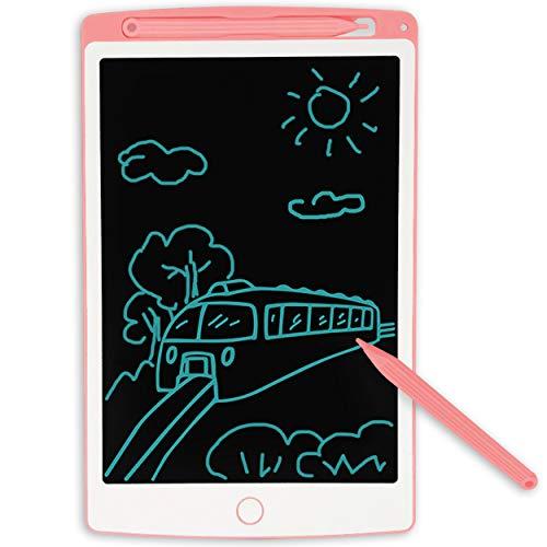 JONZOO 8.5 pulgadas LCD tabletas para escribir, contar de arte, dibujos de reutilizables eléctricos, ordenador de juguete para industrias, niños en la escuela y para la educación en el hogar, Tabletas, Ideal para niños y Adultos, El mejor regalo para niños, Rosa