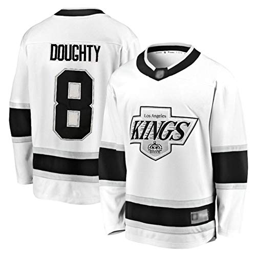 Doughty # 8 Kings Eishockey Trikot Langarm Herren Eishockey Sportswear Wettkampfteam Training Uniform Fan Trikot Echt Trikot Weiß S-XXXL-XXXL