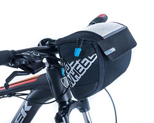 vertast 2017nueva bolsa de manillar de bicicleta de diseño grande de almacenamiento cesta para MTB CTB ciudad Commuter, negro