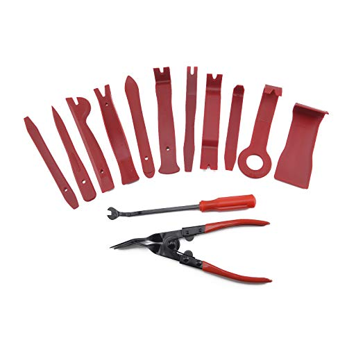Queiting 13 * Innendekorationswerkzeug Auto Clip Release Demontage Kit Montagestange Demontage Werkzeug Innenverkleidung für Auto Innenreparatur Trimm Keil Clip Entferner