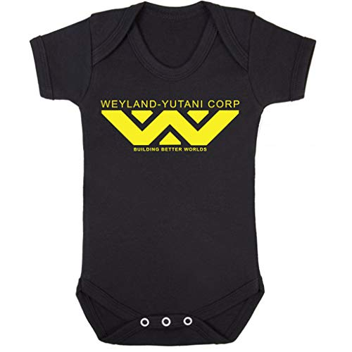 Weyland Yutani Corp Logo Alien Building Better Worlds Baby Grow Short Sleeve