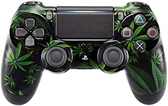 eXtremeRate Green Weeds Hydro Dipped Front Housing Shell Case, Faceplate Cover Replacement Kit for Playstation 4 PS4 Slim PS4 Pro Controller (CUH-ZCT2 JDM-040 JDM-050 JDM-055)